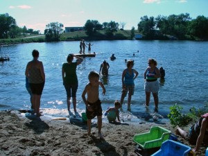 swimming at the family reunion in South Dakota at Elm Lake lodge